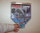 Photo of condom dispenser diplayed by CCAF and ThinkTwiceSacramento.org.